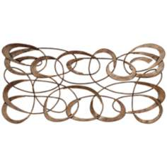 "Bronze Biways 34"" Wide Spiral Wall Art"