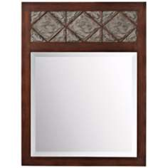 "Kichler Clark 40"" High Slate Wall Mirror"