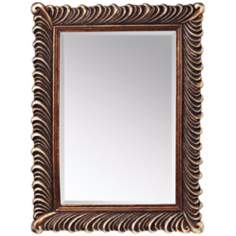 "Kichler Quill 47"" High Silver and Bronze Wall Mirror"