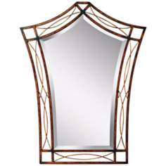 "Kichler Heathcliff 38 3/4"" High Copper Wall Mirror"