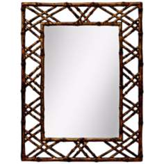 "Kichler Island 40 1/2"" High Bronze Wall Mirror"