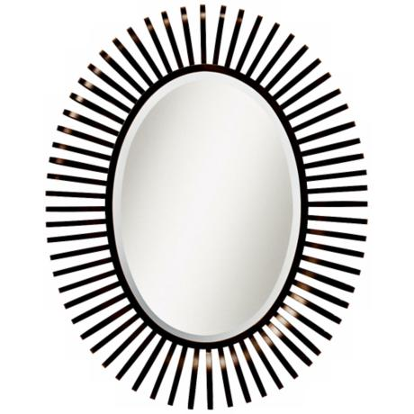 "Kichler Slinkee 45 3/4"" High Brown Oval Wall Mirror"