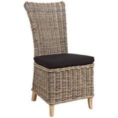 Astana Rattan and Reclaimed Teak Wood Chair