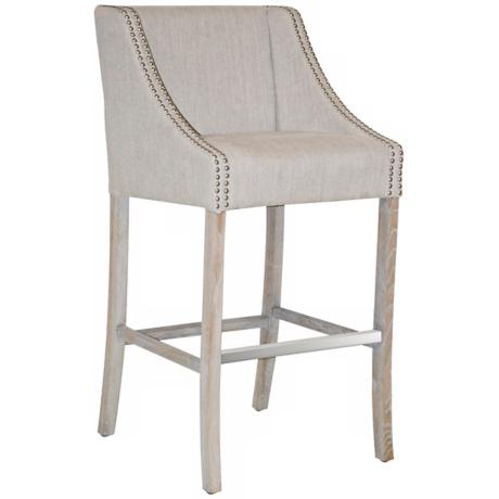 Cascade Putty Linen Bar Stool