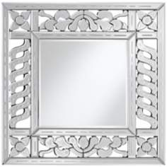 "Etched Venetian 31 1/2"" High Square Wall Mirror"