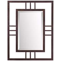 "Kichler Quadrant 34"" High Bronze Wall Mirror"