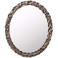 "Kichler Acanthus 36"" High Oval Wall Mirror"