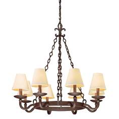 "Lyon Burnt Sienna 33"" Wide Hand-Forged Iron Chandelier"