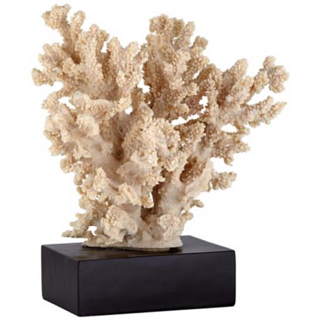 Decorative Taupe Coral Statue