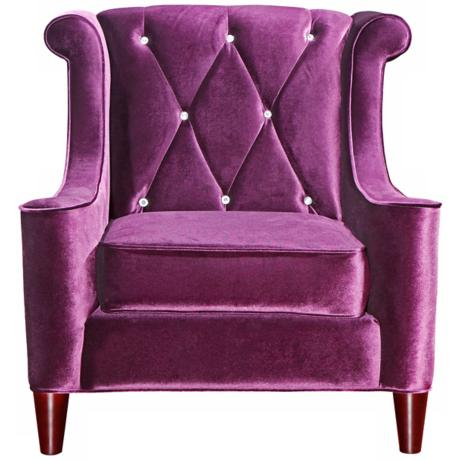 Barrister Crystal Purple Velvet Club Chair