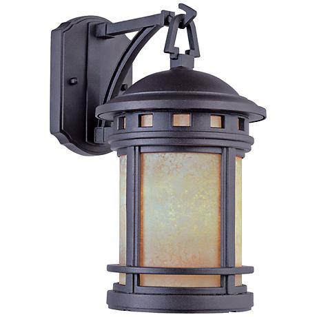 "Sedona 20"" High Amber Glass Bronze Outdoor Wall Light"