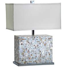 Shell Tile Mother of Pearl Tile Table Lamp