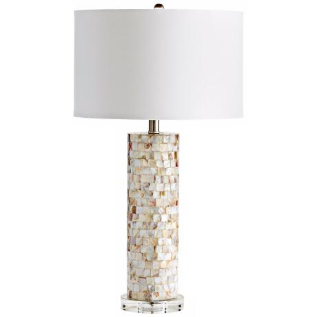 West Palm Mother of Pearl Tiled Table Lamp
