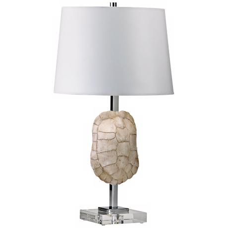 Tortoise Shell Crystal Table Lamp