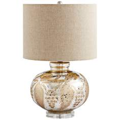 Sandalwood Antique Gold Glass Table Lamp