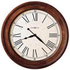 "Howard Miller Grand Americana 30"" Wide Aged Wall Clock"
