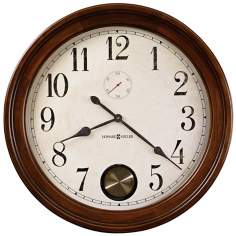 "Howard Miller Auburn 32 1/2"" Wide Cherry Wood Wall Clock"