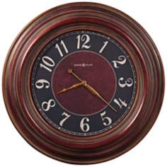 "Howard Miller 35 1/2"" McClure Antique Red Wall Clock"