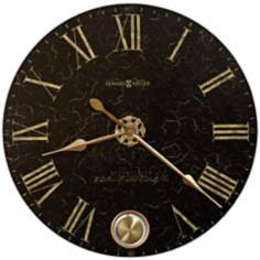 "Howard Miller 32"" Wide London Night Aged Dial Clock"