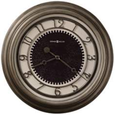 "Howard Miller Kennesaw 25 1/2"" Antique Nickel Wall Clock"