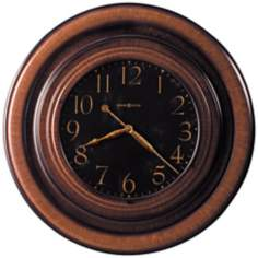 "Howard Miller 29 1/2"" Rockwell Black-Brown Wall Clock"