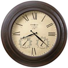 "Howard Miller Copper Harbor 28"" Indoor/Outdoor Wall Clock"