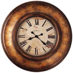 "Howard Miller Copper Bay 29 1/2"" Wide Copper Wall Clock"
