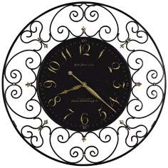 "Howard Miller Joline 36"" Black Iron Wall Clock"