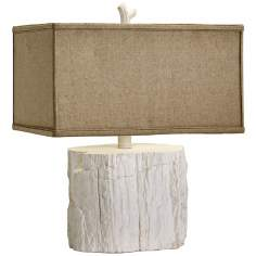 Simon Tree Stump White Table Lamp