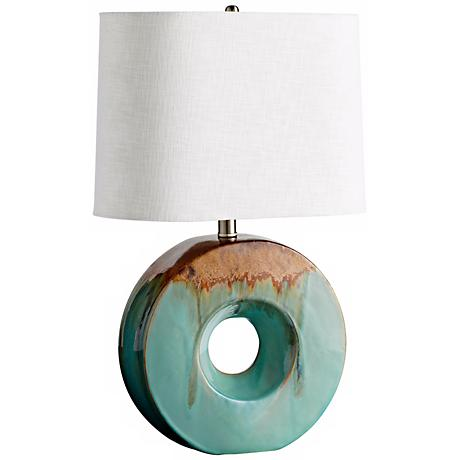 Oh O-Shape Blue and Brown Table Lamp