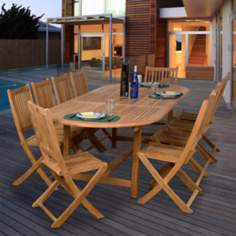 Amazonia 11- Piece Teak Bergen Outdoor Dining Set
