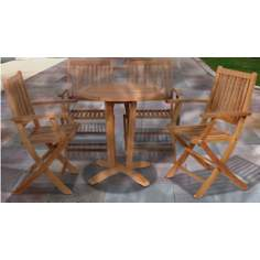 Kansas Collection Amazonia 5-Piece Teak Outdoor Dining Set
