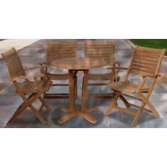 Amazonia 5-Piece Teak Aruba Outdoor Dining Set