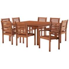 Amazonia 9-Piece Milano Square Outdoor Dining Set