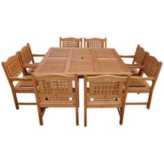 Amazonia 9-Piece Milano Porto Square Table Set