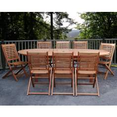 Amazonia 9-Piece Milano Grand Extendable Table Set