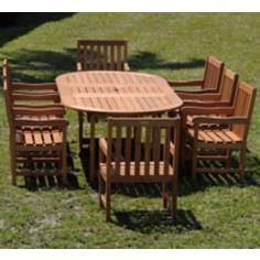 Amazonia 9-Piece Milano Deluxe Grand Extendable Table Set