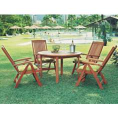 Amazonia 5-Piece Porto Round Outdoor Dining Set