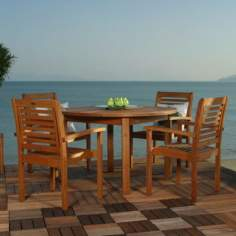 Amazonia 5-Piece Milano Round Outdoor Dining Set