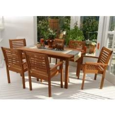 Amazonia 7-Piece Milano Rectangular Dining Set