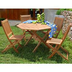 Amazonia 5-Piece Milano Octagon Outdoor Dining Set