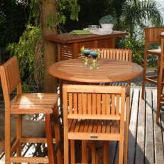 Amazonia Ibiza 4-Piece Outdoor Bar Set