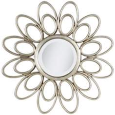 "Janye Double Petal 27 1/2"" Round Wall Mirror"