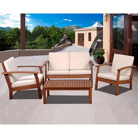 Amazonia Murano Outdoor Off-White 4-PieceConversation Set