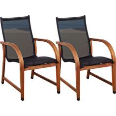 Set of 4 Amazonia Bahamas Brown Armchairs