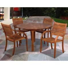 Amazonia 5-Piece Arizona Eucalyptus Round Dining Set