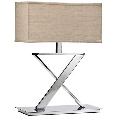 Xacto X-Shape Plated Chrome Table Lamp