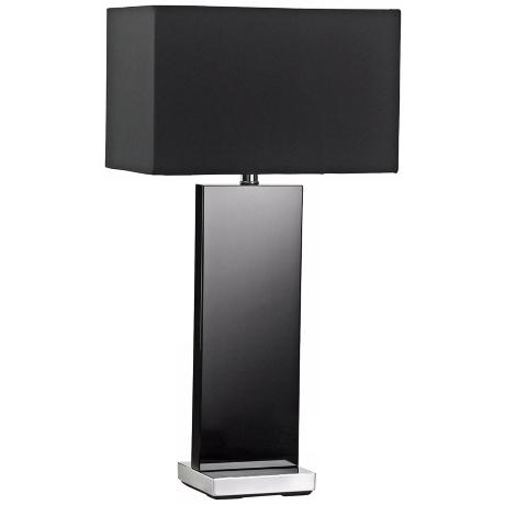 Vista Black Crystal Table Lamp