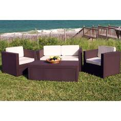 Atlantic Rimini Brown Wicker Outdoor Living Set