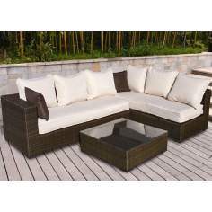 Atlantic Positano 3-Piece Dark Brown Outdoor Sectional